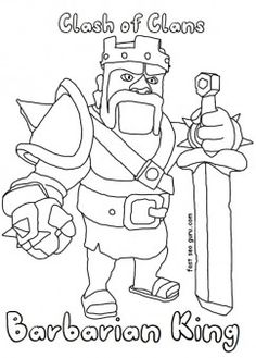 Free Printable #clash of clans barbarianking coloring pages for kids. free online games clash of clans barbarianking coloring pages pc and iphone. Superheroes of clash of #clans games #barbariankinn