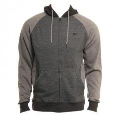 Billabong Mens Sweatshirt Balance Zip Dark Grey Heather