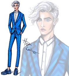 Hayden Williams Fashion Illustrations: Lucky Blue by Hayden Williams