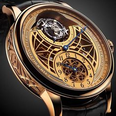 """""""L. Leroy Osmoir Tourbillon Skeleton. Amazing piece of craftmanship. And it all fits around the wrist... #watch #watches #lleroy #leroy #whatchs…"""""""