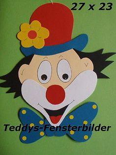 Teddys Fensterbilder 11´ Clown mit Schleife ` Tonkarton Diy And Crafts, Arts And Crafts, High Iron, Feature Film, Mardi Gras, Clown Crafts, Carnival, Love Rain, Clowns