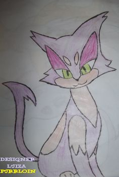 Purrloin Pokémon desenho à lápis