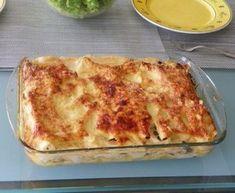 cuisse de canard, oignon, girolle, beurre, farine, lait, fromage râpé, lasagnes