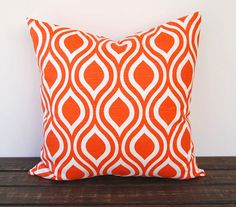 Orange pillow cover One 20 x 20 inches Nicole by ThePillowPeople, $18.00