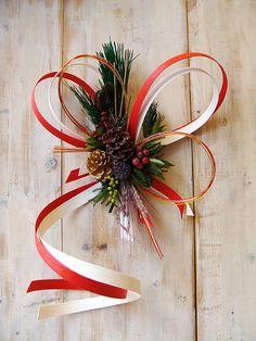 お正月飾り・モダンなしめ飾り、お正月リース