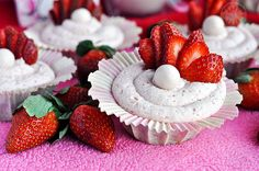 Strawberry Milkshake Whoppers Cupcakes from Serendipitymommy.com
