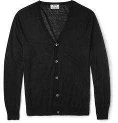 Acne Studios Hydra C Cotton and Linen-Blend Cardigan