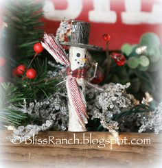 Bliss Ranch: Rustic Homemade Ornaments & Link Party Pals