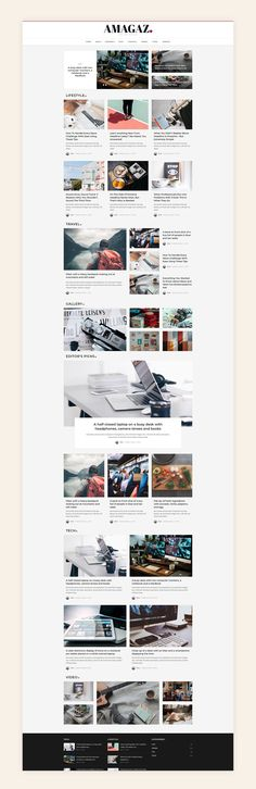 Amagaz is a modern WordPress theme that lets you write articles and blog posts with ease. We offer great support and friendly help!  This theme is excellent for a news, newspaper, magazine, or publishing site. Make your content more appealing, engaging and usable. Get Amagaz today and be setup in minutes! #wordpresstheme #blog #posts