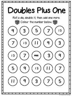 Here's a rap for helping students remember the doubles