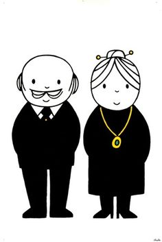 Dick Bruna (1927-) - without text old couple |