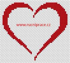 Cross Stitch Charts Heart, free cross stitch patterns and charts - www. Wedding Cross Stitch Patterns, Cross Stitch Pattern Maker, Cross Stitch Heart, Cross Stitch Borders, Cross Stitch Designs, Cross Stitching, Cross Stitch Embroidery, Crochet Cross, Free Crochet