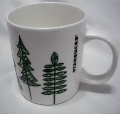 2015 Holiday Starbucks White Cup Green Christmas Trees Coffee Mug 12 Fl Oz | Collectibles, Advertising, Food & Beverage | eBay!