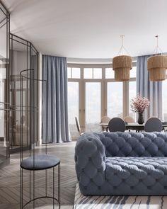 Apartments in Moscow.Design: Olesya Fedorenko (Home nature)Visualization: VizLine Studio