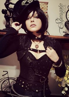 steampunkopath:     Steampunk Girls -                     Arsenic in the shell