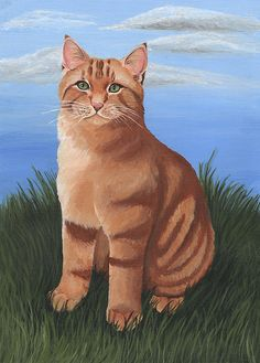 Ginger Cat by Anna Tipton