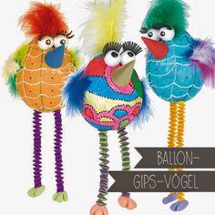 Material: (gleich hier im Pro-Spiel Webshop bestellen) Ballone Gipsbinden Styroporkugeln Kegel SilkClay Acrylfarbe Tonzeichenpa...