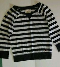 Girls Hollister blue and white striped long-sleeve shirt size small