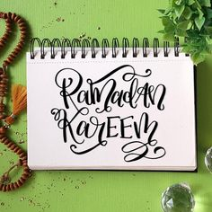 After a loong time!Ramadan Mubarak to all . Green Desk, Hand Drawn Type, Ramadan Mubarak, Back To Work, My Happy Place, How To Draw Hands, My Love, Artist, Handmade