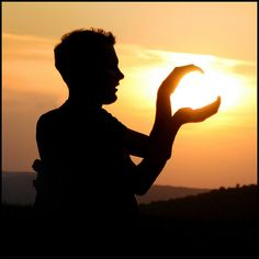 Ever wondered what it would be like to actually hold the sun in your hands?...Or maybe it's just me...