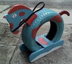 Brilliant Ways, alte Reifen in etwas neues Garten-… – … Brilliant Ways, old tires in a new … Projects For Kids, Diy For Kids, Crafts For Kids, Diy Projects, Summer Crafts, Tyre Ideas For Kids, Recycling Projects, Outdoor Projects, Diy Outdoor Toys