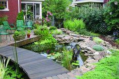 Dammbygge dammduk Firestone 1mm | Kronoberg Living Proof, Garden Bridge, Stepping Stones, Building Products, Outdoor Structures, Patio, Ponds, Outdoor Decor, Garden Ideas