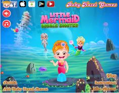 Explore an underwater world and help Baby Hazel to shoot and pop bubbles and rescue the mermaids
