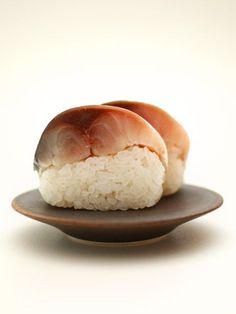 Pressed Mackerel Sushi. Japanese food.