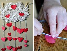 35 Valentine's Day DIY Craft Ideas for Kids  #valentinesday #craftsforkids