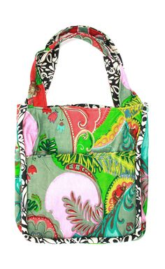 Product # EH0098-0400  Bold Floral Ingrid & Natalie Everything Bag.....Exclusive Initial Outfitters        Price: $89.00