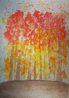 lovecold art / watercolor trees