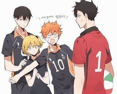 Haikyuu Funny, Haikyuu Fanart, Haikyuu Anime, Haikyuu Karasuno, Kageyama, Cartoon As Anime, Anime Guys, Manhwa, Haikyuu Volleyball