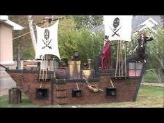 This is our 2nd year of the Pirate Halloween house complete with a creaking pirate ship, treasure chest, lots of pirates as well as pirate music . Looking forward to adding more features in the years to come. Our house is located in South Jordan, Utah.