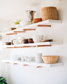 copper pipe open shelving, nice alternative to all the plumbing pipe stuff