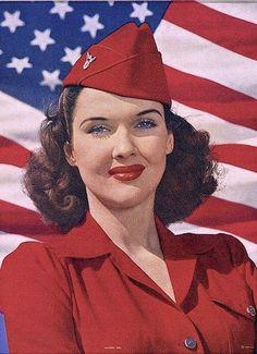 Patriotic, she is so pretty