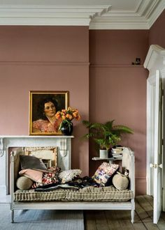 British paint manufacturer Farrow & Ball has expanded its extensive color card with nine new shades. Carefully chosen to balance Farrow & Ball'. Farrow Ball, Farrow And Ball Paint, Farrow And Ball Living Room, Farrow And Ball Kitchen, Most Popular Paint Colors, New Paint Colors, Wall Painting Colors, Painting Wallpaper, Wallpaper Ideas