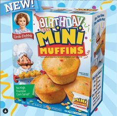 Little Debbie Snack Cakes, Mini Muffins, Corn Syrup, Inventions, Cereal, Snacks, Breakfast, Birthday, Sweet