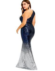 ed9293f581c2 Women s Blue Fade Silver Plus Size Mermaid Dress