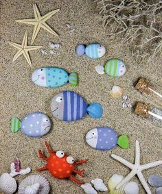 with Painted Beach Rocks Paint Fishy beach rocks for the garden or anywhere! Great craft for the kiddos!Paint Fishy beach rocks for the garden or anywhere! Great craft for the kiddos!