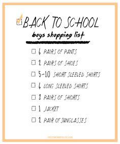 Back to School Shopp