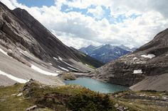 Headwall Lakes in  Kananaskis Country in Alberta, Canada.  photo - behind me, via Flickr.