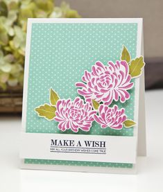 Gallon:Quart:Pint Color Challenge - Make A Wish Card by Ashley Cannon Newell for Papertrey Ink (August 2013)
