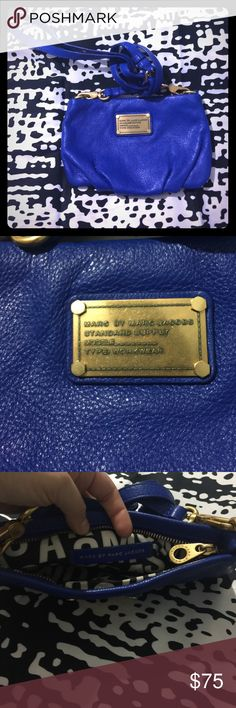 Marc by Marc Jacobs Royal blue petite purse 👛 with gold hardware and nylon lining Marc by Marc Jacobs Bags Crossbody Bags