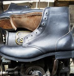 Canadian style Ammo boots Vintage Boots, Vintage Leather, Cycling Shoes, Custom Motorcycles, Leather Boots, Combat Boots, Shoe Boots, My Style, Casual