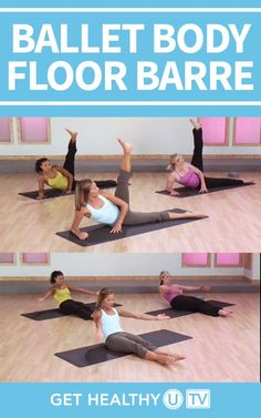 Take it to the floor with this ballet workout that works your muscles from a different position for enhanced results. It combines ballet moves, Pilates exercises, and yoga-inspired moves to tone you head to toe—even your toughest problem areas. Ballet Barre Workout, Pilates Workout, Barre Workouts, Workout Fun, Cardio, Biceps, Floor Barre, Ballet Body, Workout Calendar