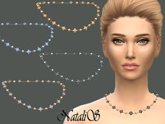 Chain with beads and crystals by NataliS at TSR via Sims 4 Updates