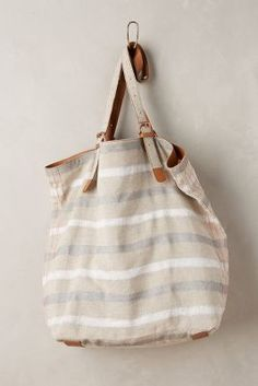 Miss Albright Striped Linen Tote #anthrofave