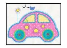 "Designed by Diana Vogt and Anne Vane of V-Stitch Designs.The GO! Cute Car Single #1 appliqué embroidery design is designed to be used with the AccuQuilt GO! Cute Car die (55354). We've taken the cute car die and created a single design that any child would love. It can be used on clothing or accessories as well as using them to make a quilt.Hoop Size:Minimum hoop size for all designs is 5"" x 7"".Available in the following formats: ART, DST, EXP, HUS, JEF, PES, SEW, VIP, VP3 Compatible with…"