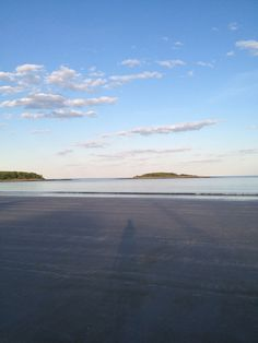 Goose Rocks Beach, Kennebunkport, looking out toward Timber Island just before dusk