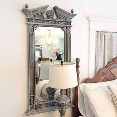 Restoration Hardware Style Mirror French Provincial Ornate Large Dressing Mirror - Hallstrom Home - 1